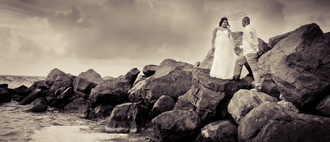 Beach Wedding in Key West at Ft. Zachary Taylor